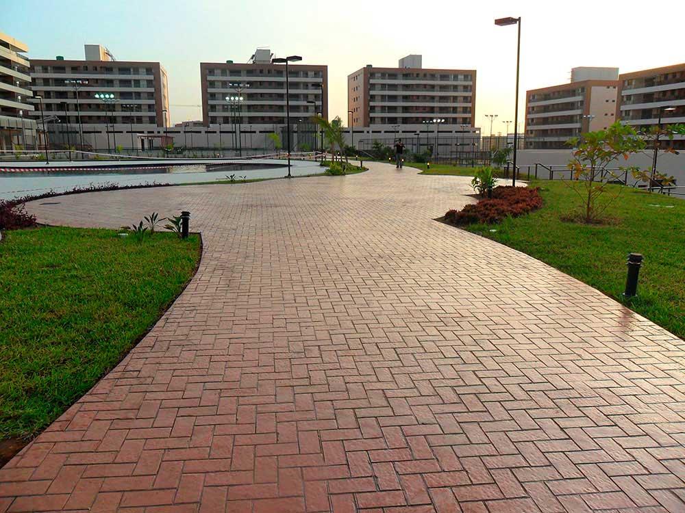 Obra Angola Cond Residencial 5000m2 - Crete - Piso em Concreto